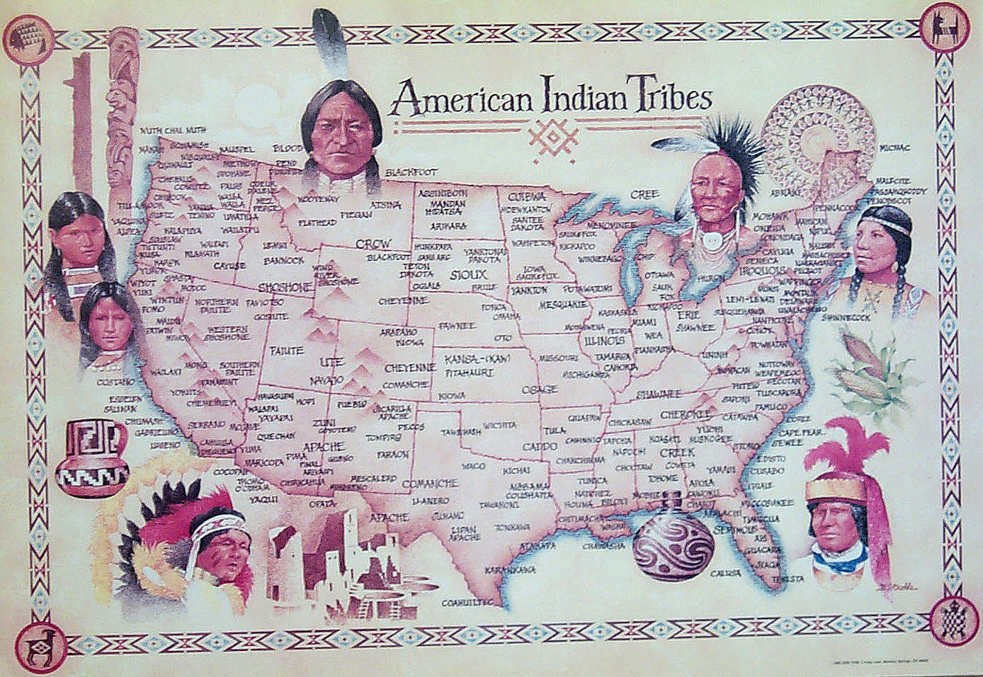 Us Tribes Map Globalinterco - Us native american map