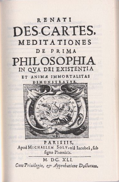 meditation on first philosophy In 1639 descartes began writing the meditations and  to have been in a letter  from mersenne that descartes first learns of it.